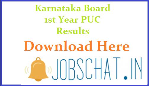 Karnataka Board 1st Year PUC Results