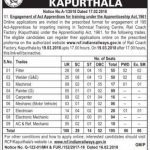 Rail Coach Factory Kapurthala Recruitment 2018 | Apply 195 Apprentice Vacancies Online @ www.rcf.indianrailways.gov.in