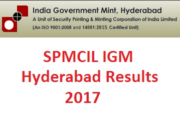 SPMCIL Officer Results
