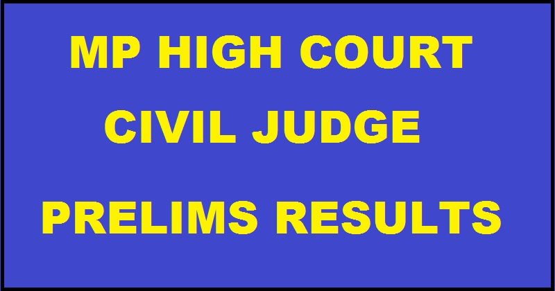 MP Civil Judge Prelims Results