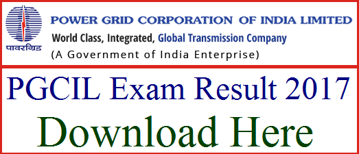 PGCIL Diploma Trainee Results