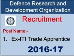 DRDO CVRDE Avadi Ex-ITI Trade Apprentice Recruitment