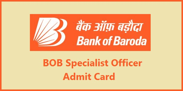 BOB Specialist Officer Admit Card