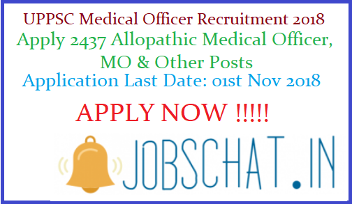UPPSC Medical Officer Recruitment