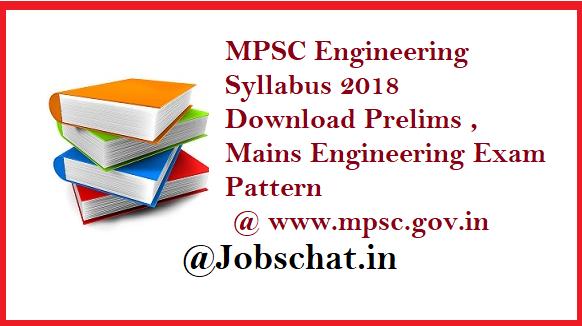 MPSC Engineering Service Syllabus