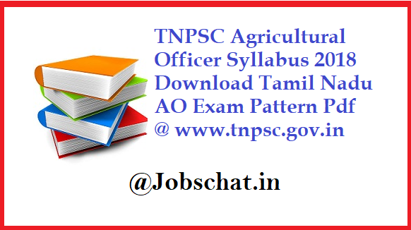 TNPSC Agricultural Officer Syllabus
