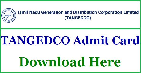 TNEB TANGEDCO Admit Card 2018