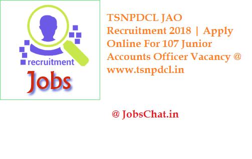 TSNPDCL JAO Recruitment