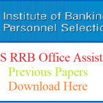 IBPS RRB Office Assistant Previous Papers | Download IBPS RRB CWE VII Officer And Office Assistant Model Papers With Solution Pdf @ www.ibps.in