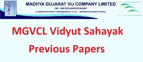 MGVCL Vidyut Sahayak Previous Papers