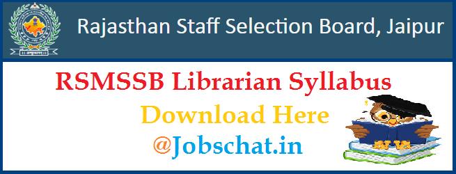 RSMSSB Librarian Syllabus
