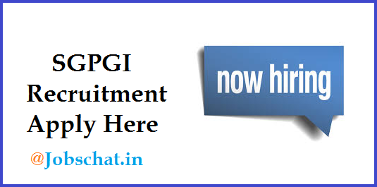 SGPGI Recruitment