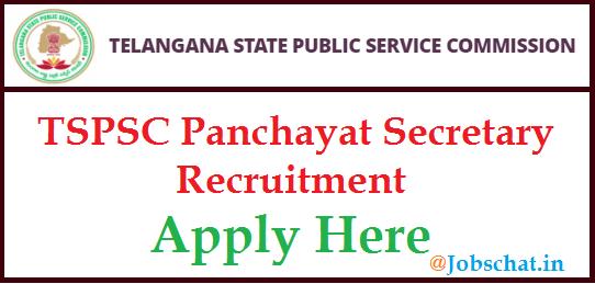 TSPSC Panchayat Secretary Recruitment