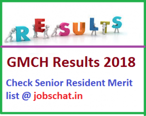 GMCH Chandigarh Results 2018