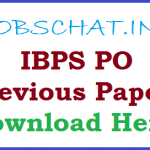IBPS PO Previous Papers | Download Probationary Officers/ Management Trainee Model Question Papers with Solutions Pdf @ www.ibps.in