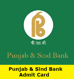 Punjab And Sind Bank Admit Card