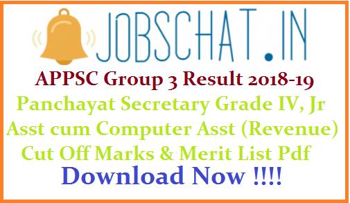 APPSC Group 3 Result