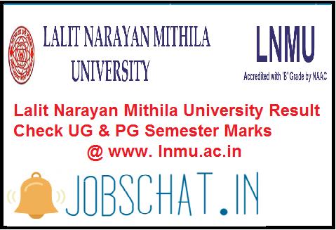 Lalit Narayan Mithila UniversityResult