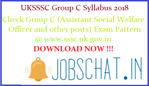 UKSSSC Group C Syllabus