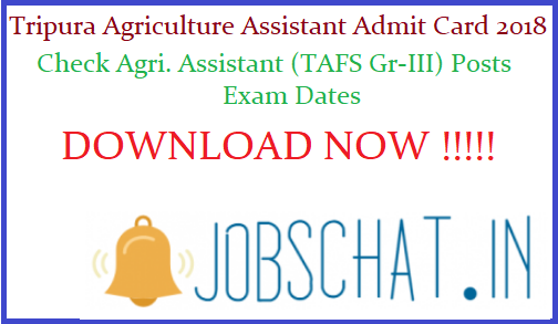 Tripura Agriculture Assistant Admit Card