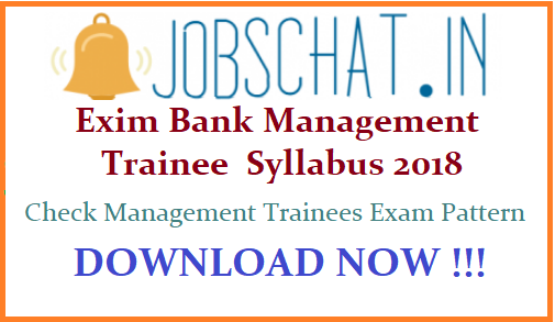 Exim Bank Management Trainee Syllabus