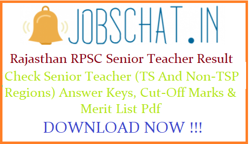 Rajasthan RPSC Senior Teacher Result