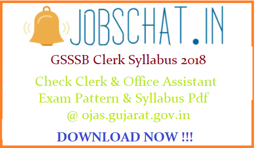 GSSSB Clerk Syllabus