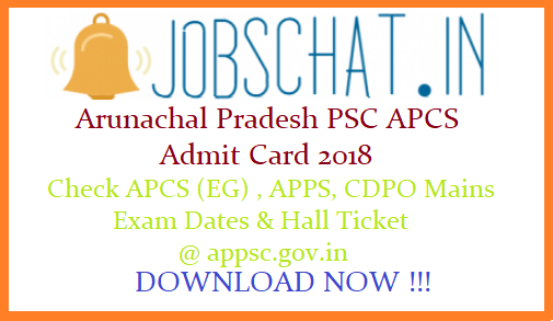 Arunachal Pradesh PSC APCS Admit Card