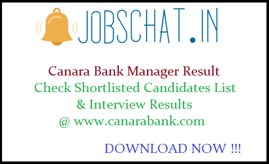 Canara Bank Manager Result