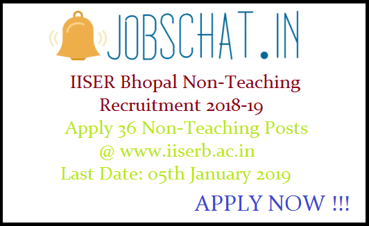 IISER Bhopal Non-Teaching Recruitment
