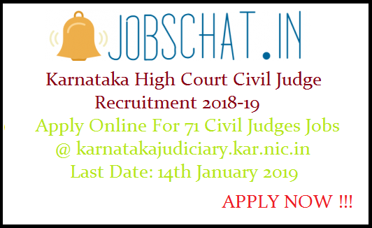 Karnataka High Court Civil Judge Recruitment