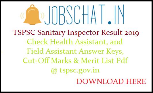 TSPSC Sanitary Inspector Result
