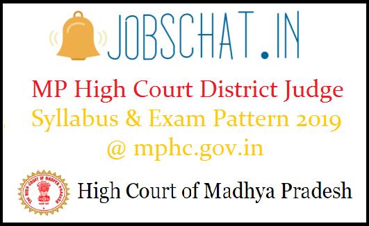 MP High Court District Judge Syllabus