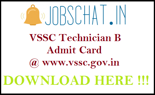 VSSC Technician B Admit Card